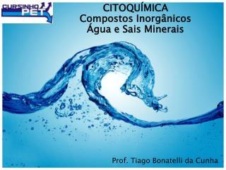 CITOQUÍMICA Compostos Inorgânicos Água e Sais Minerais