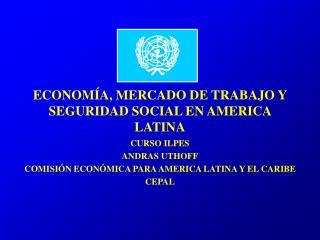 ECONOMÍA, MERCADO DE TRABAJO Y SEGURIDAD SOCIAL EN AMERICA LATINA