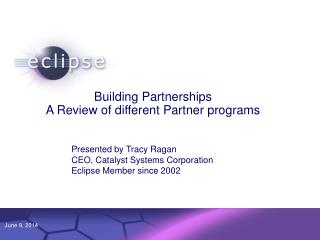 Building Partnerships A Review of different Partner programs