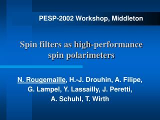 Spin filters as high-performance spin polarimeters
