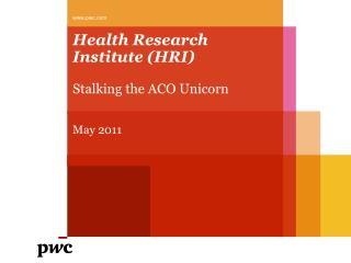 Health Research Institute (HRI)