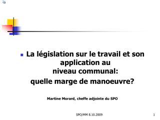 La législation sur le travail et son application au niveau communal: quelle marge de manoeuvre?