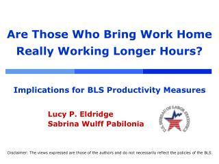 Lucy P. Eldridge Sabrina Wulff Pabilonia
