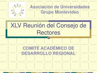 XLV Reunión del Consejo de Rectores