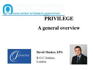 PRIVILEGE  A general overview