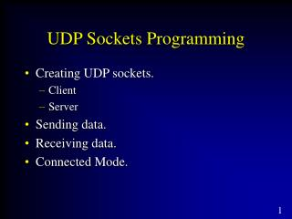 UDP Sockets Programming