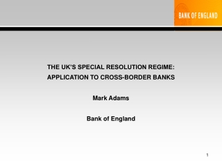 Cross Border Banking Regulations
