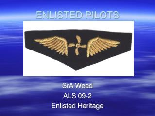 ENLISTED PILOTS