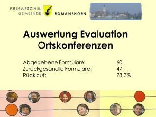 Auswertung Evaluation Ortskonferenzen