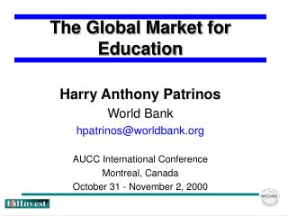 The Global Market for Education