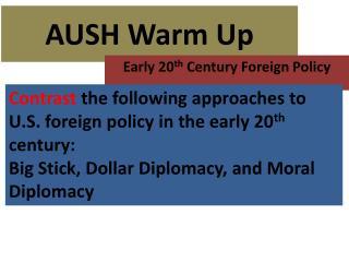 AUSH Warm  U p