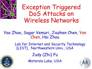 Exception Triggered DoS Attacks on Wireless Networks