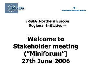 ERGEG Northern Europe  Regional Initiative –
