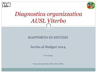 RAPPORTO DI SINTESI Invito al Budget 2014 2-12-2013 Fonte dei dati Flussi SIO, SIAS, SIES