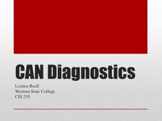 CAN Diagnostics