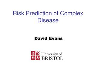 Risk Prediction of Complex Disease