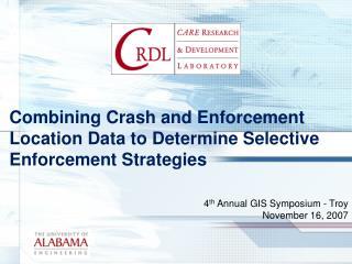 Combining Crash and Enforcement Location Data to Determine Selective Enforcement Strategies