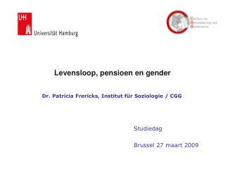 Levensloop, pensioen en gender