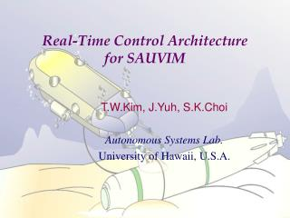 Real-Time Control Architecture  for SAUVIM