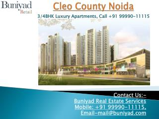Cleo County Noida – New launch in sector121 Noida