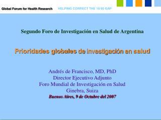 Segundo Foro de Investigaci ó n en Salud de Argentina