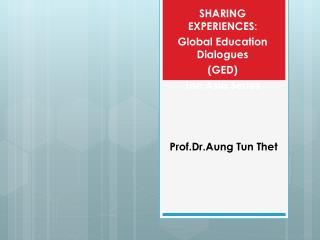 Prof.Dr.Aung Tun Thet