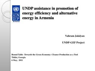 UNDP assistance in promotion of energy efficiency and alternative energy in Armenia