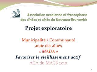 Association acadienne et francophone des aînées et aînés du Nouveau-Brunswick