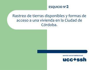 Rastreo de tierras disponibles y formas de acceso a una vivienda en la Ciudad de Córdoba.