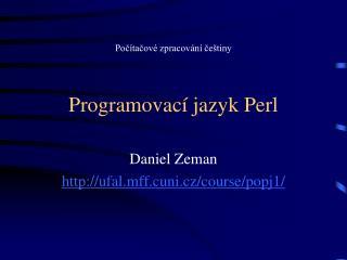 Programovací jazyk Perl