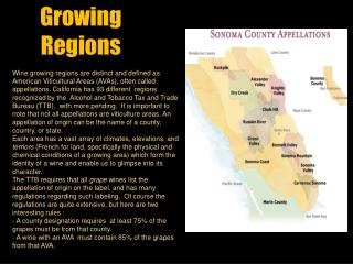 Growing  Regions