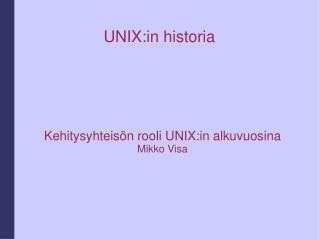 UNIX:in historia
