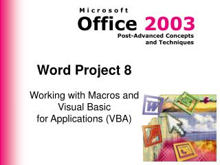 Word Project 8