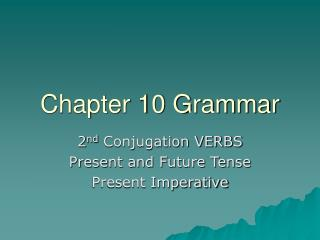 Chapter 10 Grammar