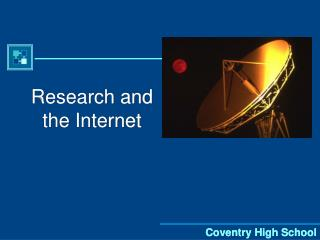 Research and the Internet