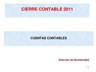 CIERRE CONTABLE 2011