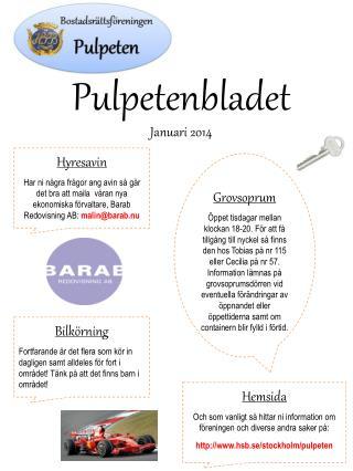 Pulpetenbladet Januari 2014