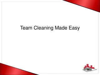 Team Cleaning Made Easy