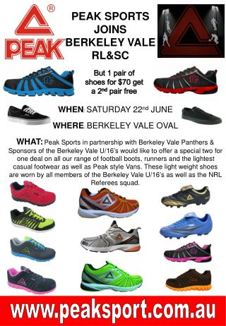 PEAK SPORTS  JOINS BERKELEY VALE RL&SC