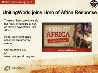 UnitingWorld joins Horn of Africa Response