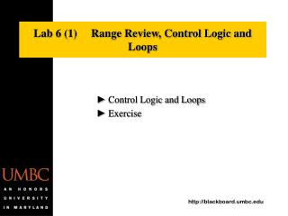 Lab 6 (1)     Range Review, Control Logic and Loops