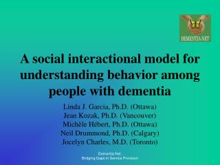 A social interactional model for understanding behavior among people with dementia