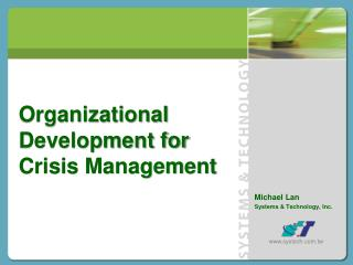 Organizational  Development for Crisis Management