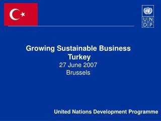 Growing Sustainable Business  Turkey 27 June 2007  Brussels