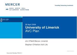 University of Limerick  AVC Plan