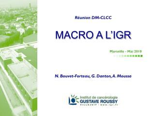 MACRO A L'IGR