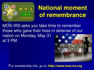 National moment of remembrance