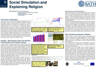 Social Simulation and  Explaining Religion