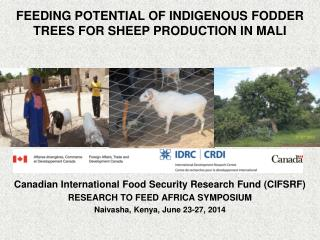 Canadian International Food Security Research Fund (CIFSRF) RESEARCH TO FEED AFRICA SYMPOSIUM
