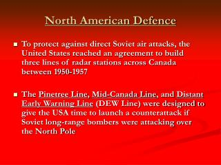 North American Defence